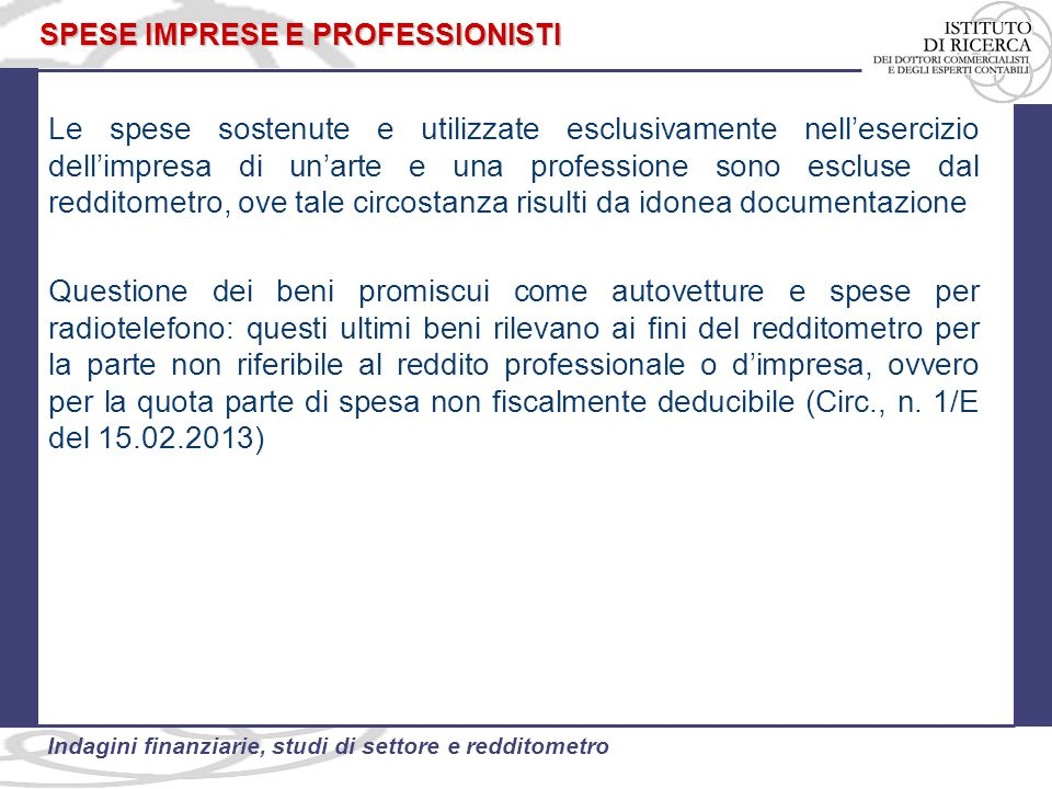 SPESE IMPRESE E PROFESSIONISTI