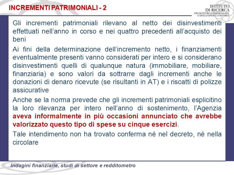INCREMENTI PATRIMONIALI - 2