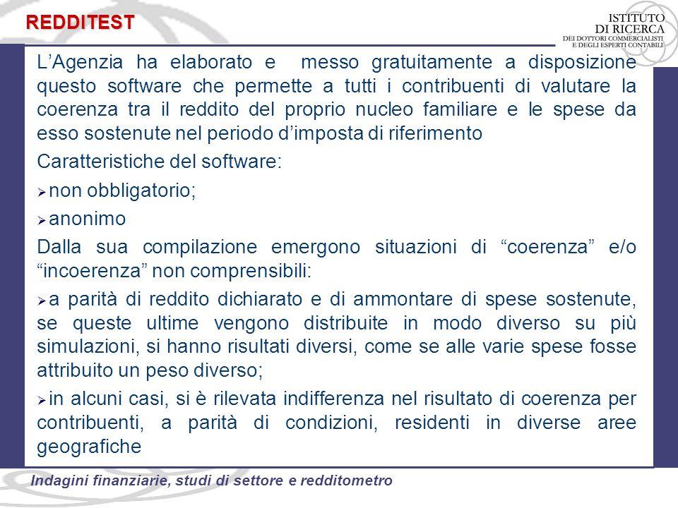 Caratteristiche del software: non obbligatorio; anonimo