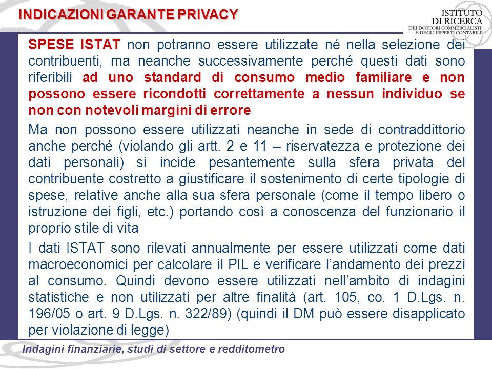 INDICAZIONI GARANTE PRIVACY