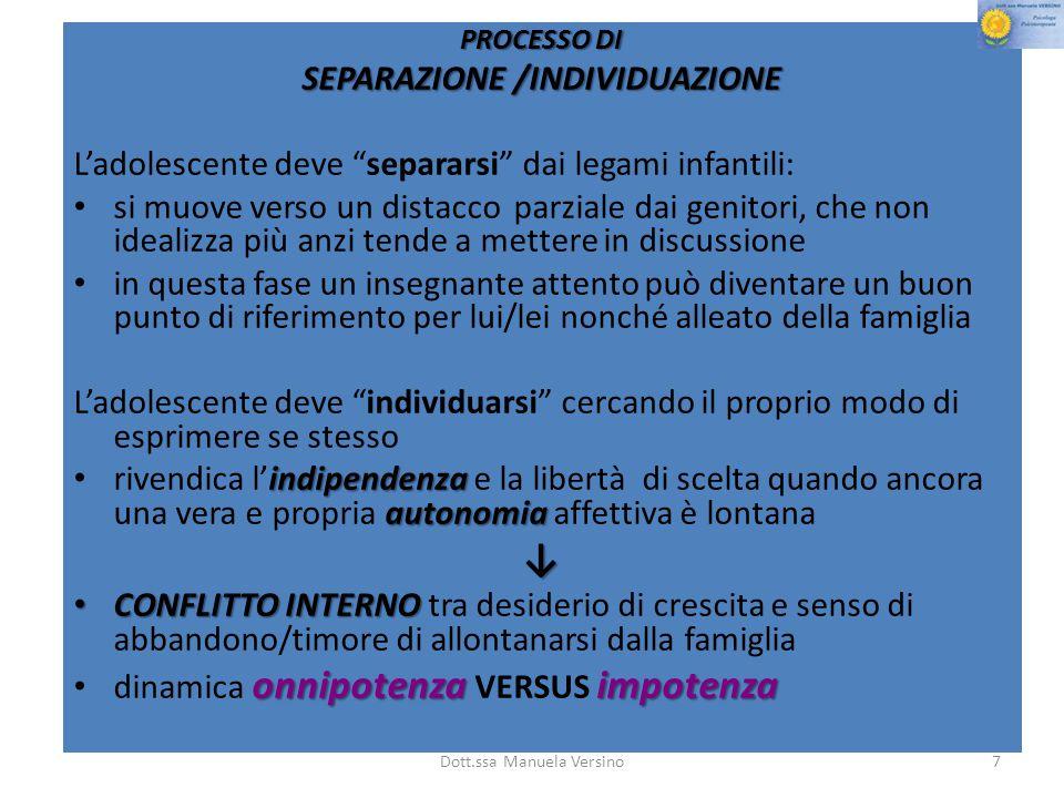 SEPARAZIONE /INDIVIDUAZIONE