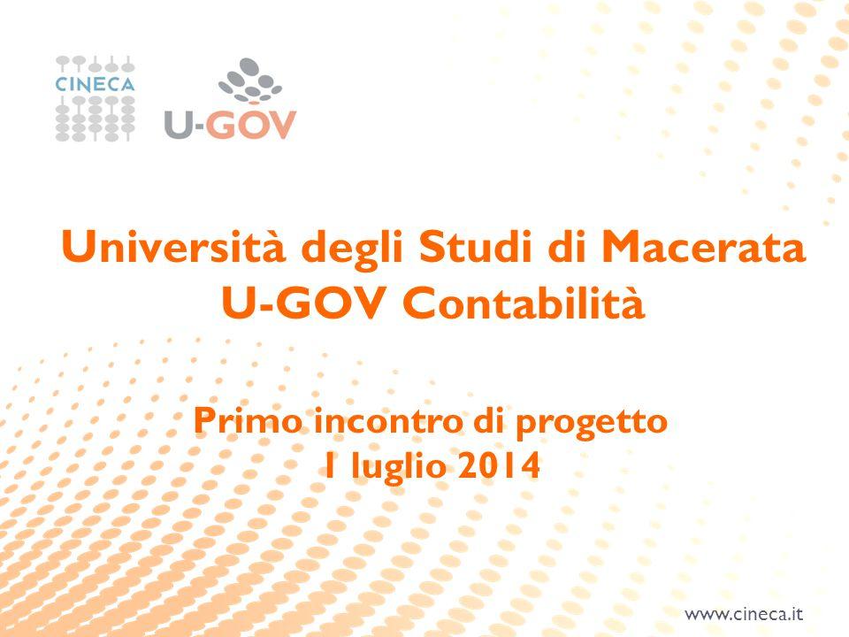 Università degli Studi di Macerata Primo incontro di progetto