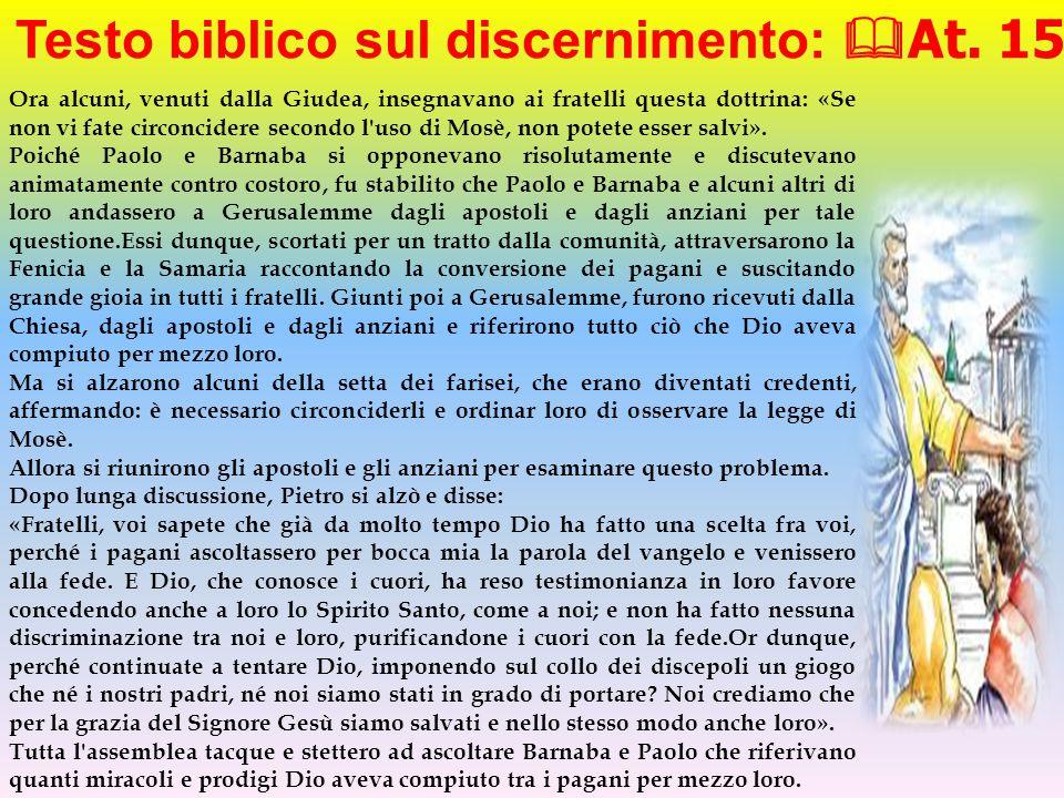 Testo biblico sul discernimento: At. 15