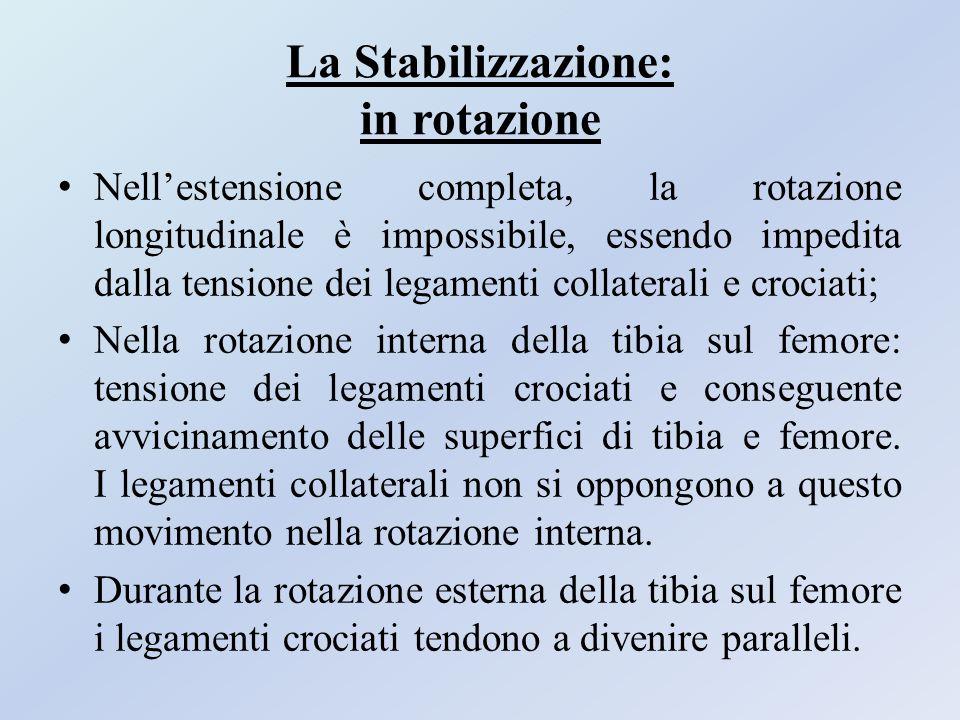 La Stabilizzazione: in rotazione