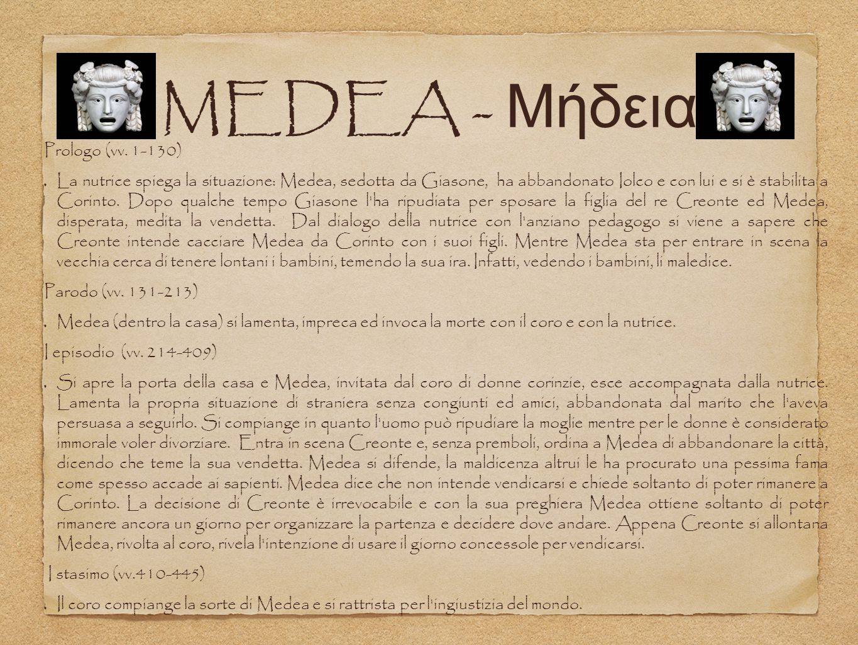 MEDEA - Μήδεια Prologo (vv. 1-130)