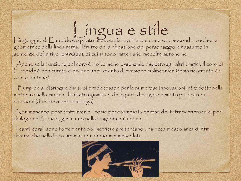 Lingua e stile