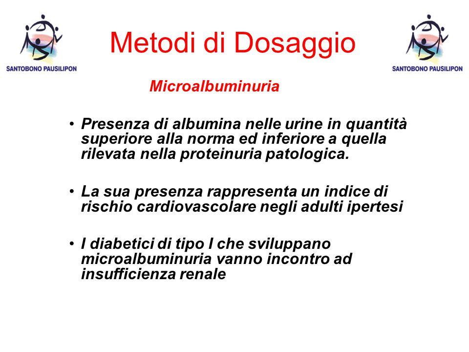 Metodi di Dosaggio Microalbuminuria
