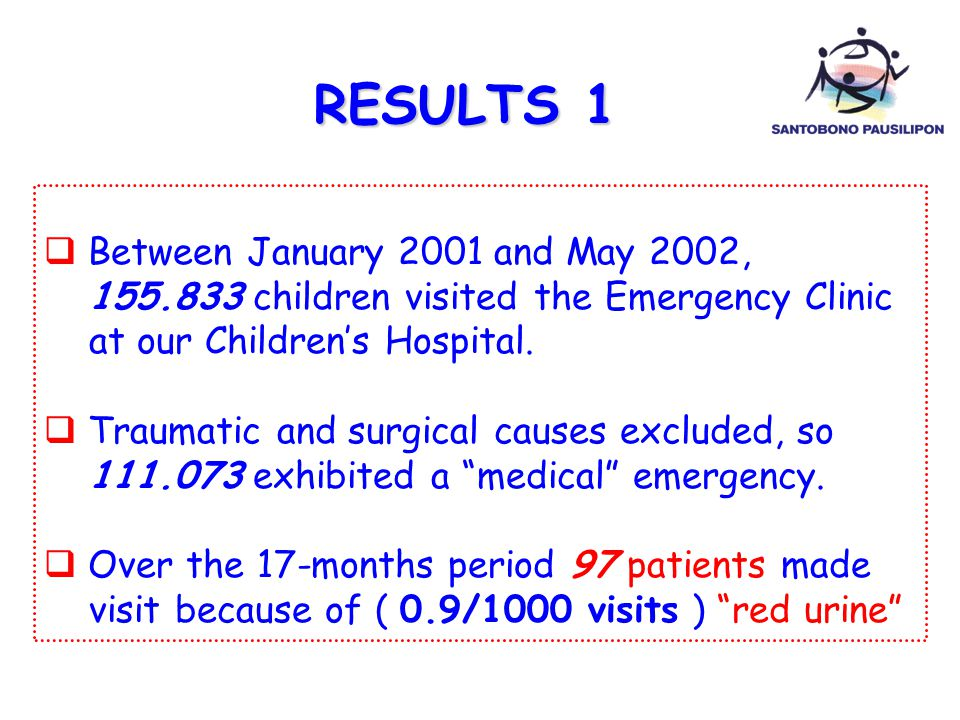RESULTS 1 Between January 2001 and May 2002,