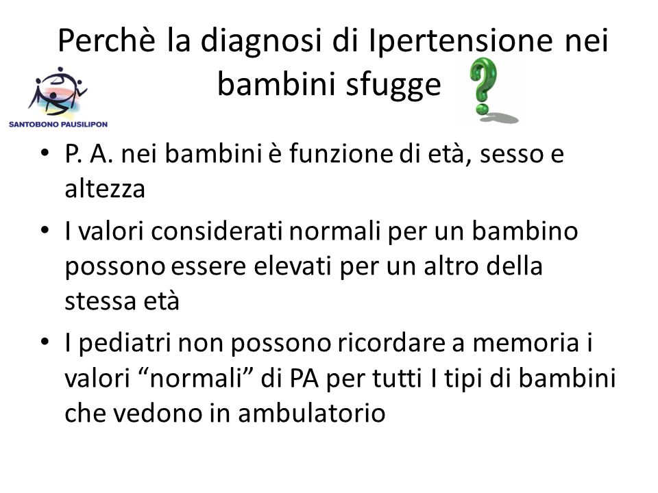 Perchè la diagnosi di Ipertensione nei bambini sfugge