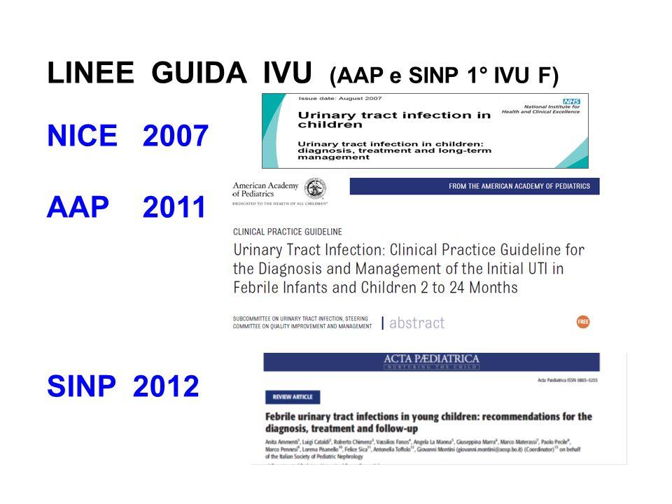 LINEE GUIDA IVU (AAP e SINP 1° IVU F)