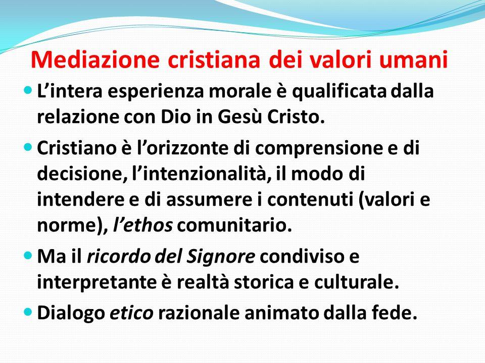 Mediazione cristiana dei valori umani