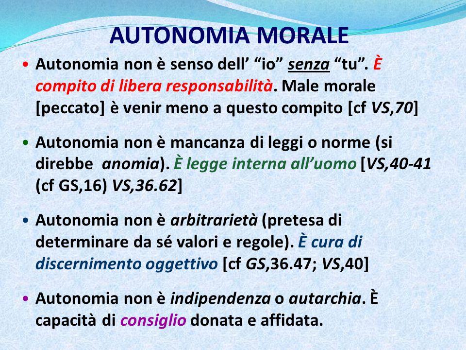 AUTONOMIA MORALE