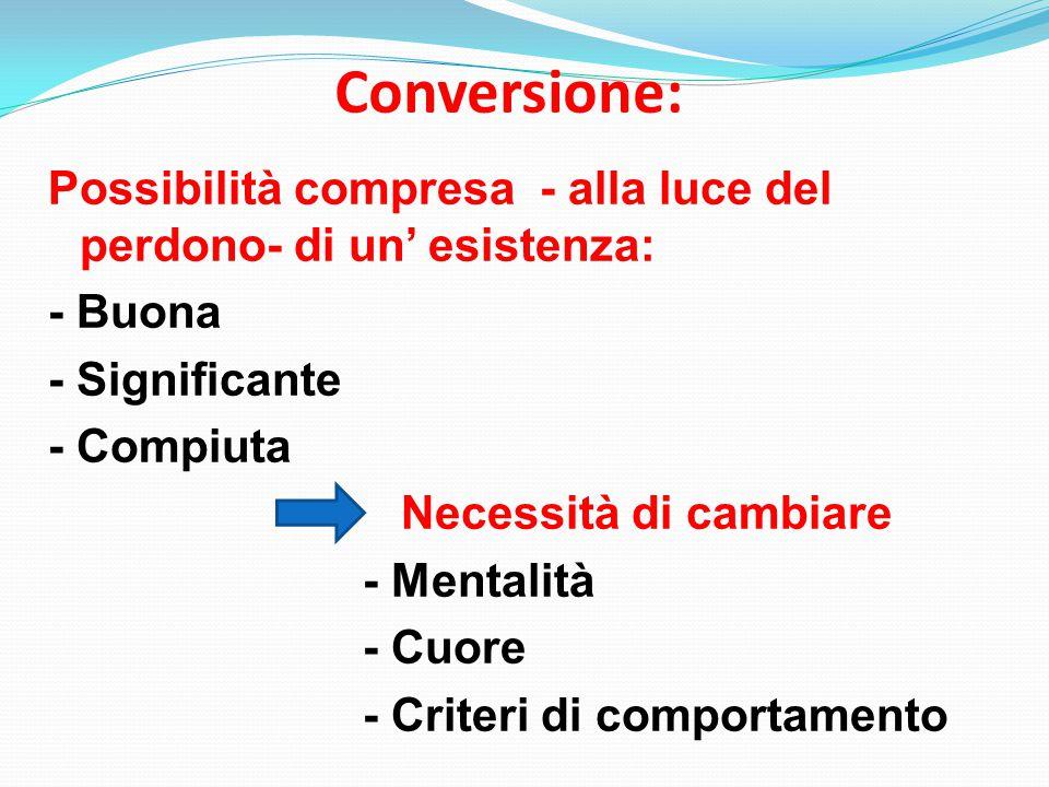 Conversione: