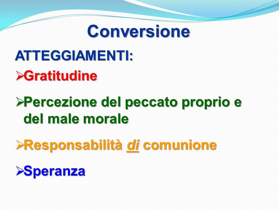 Conversione ATTEGGIAMENTI: Gratitudine