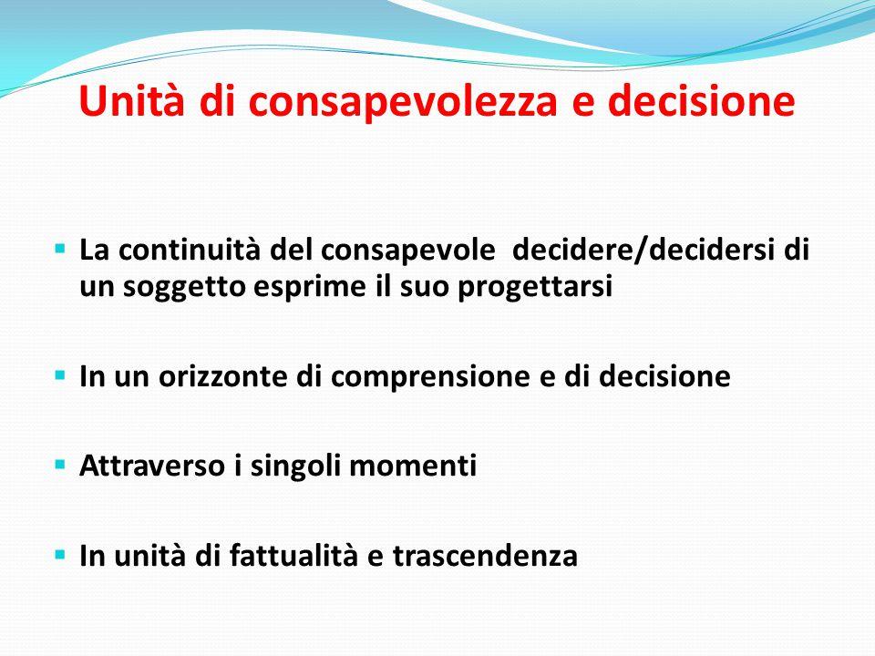 Unità di consapevolezza e decisione