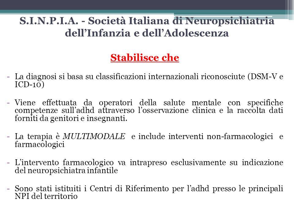 S.I.N.P.I.A. - Società Italiana di Neuropsichiatria dell'Infanzia e dell'Adolescenza