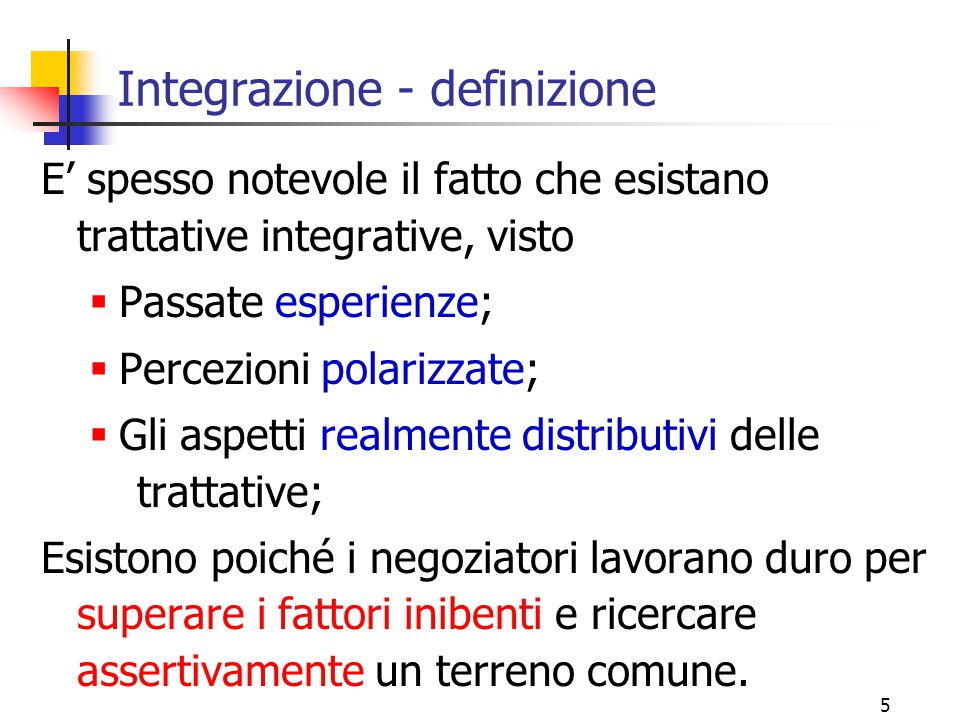 Integrazione - definizione