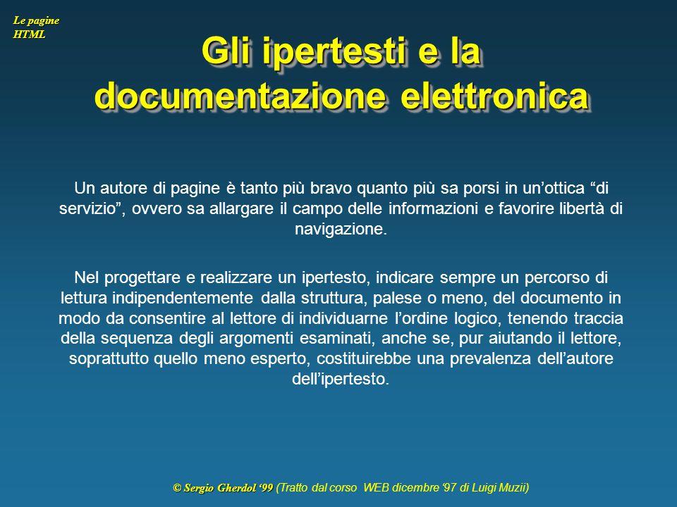 Gli ipertesti e la documentazione elettronica