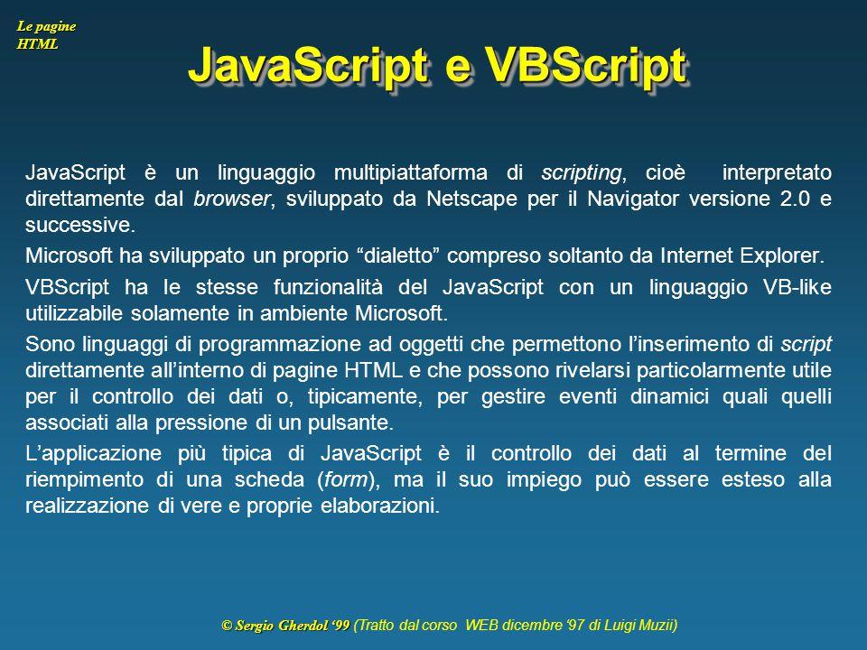 JavaScript e VBScript