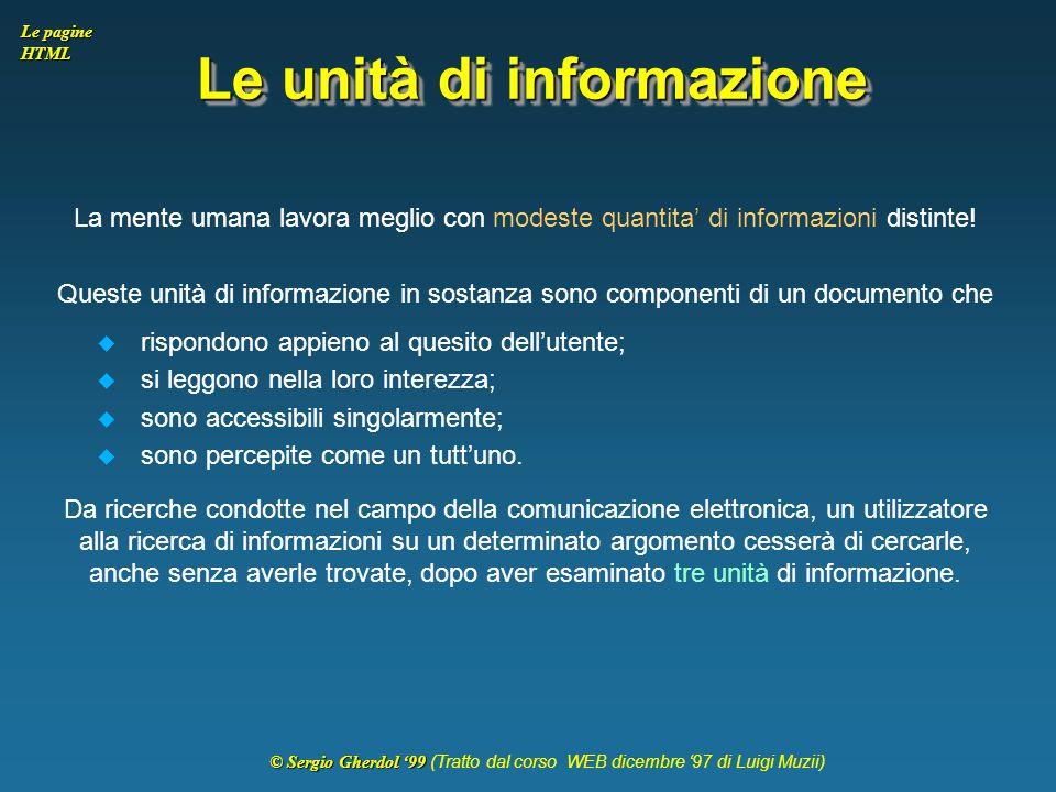 Le unità di informazione