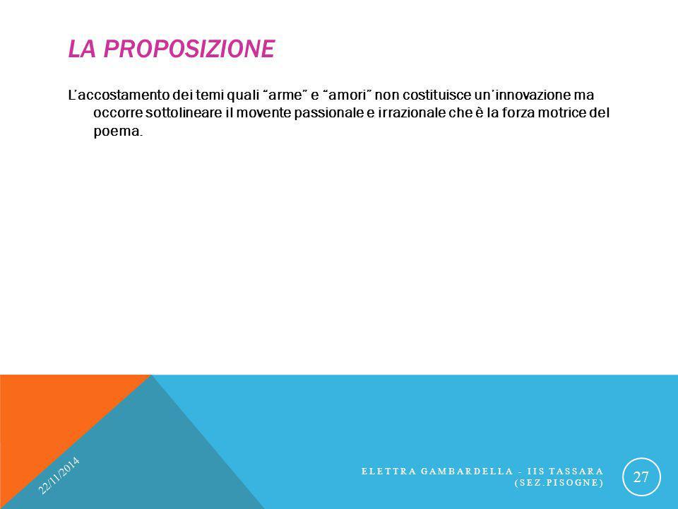 La proposizione