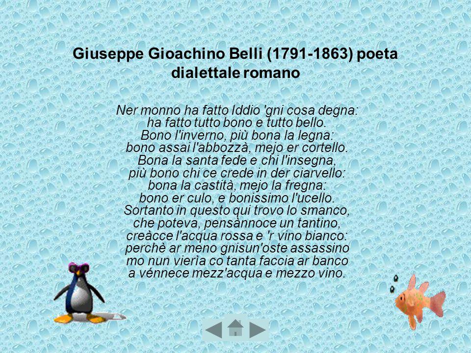 Giuseppe Gioachino Belli (1791-1863) poeta dialettale romano