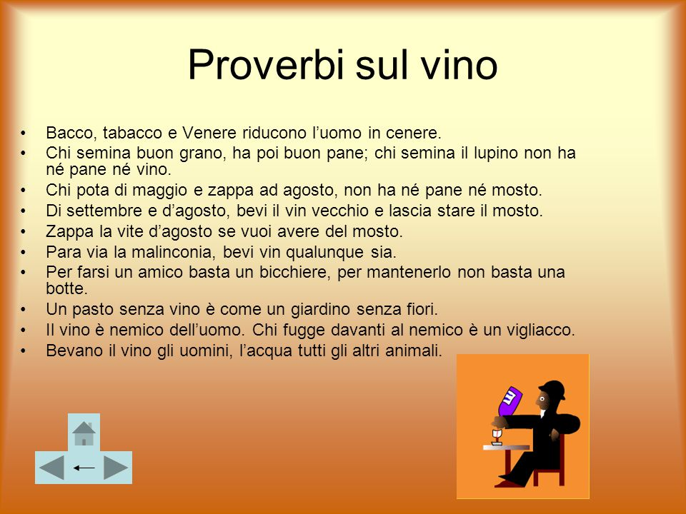 Proverbi sul vino Bacco, tabacco e Venere riducono l'uomo in cenere.