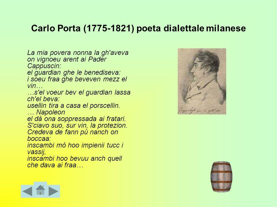 Carlo Porta (1775-1821) poeta dialettale milanese