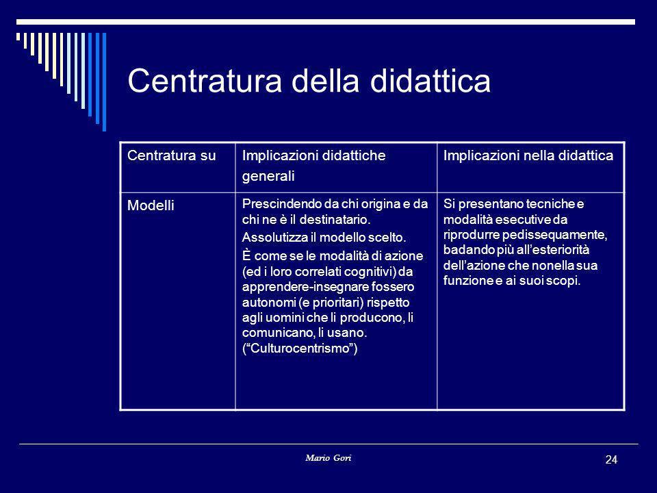 Centratura della didattica