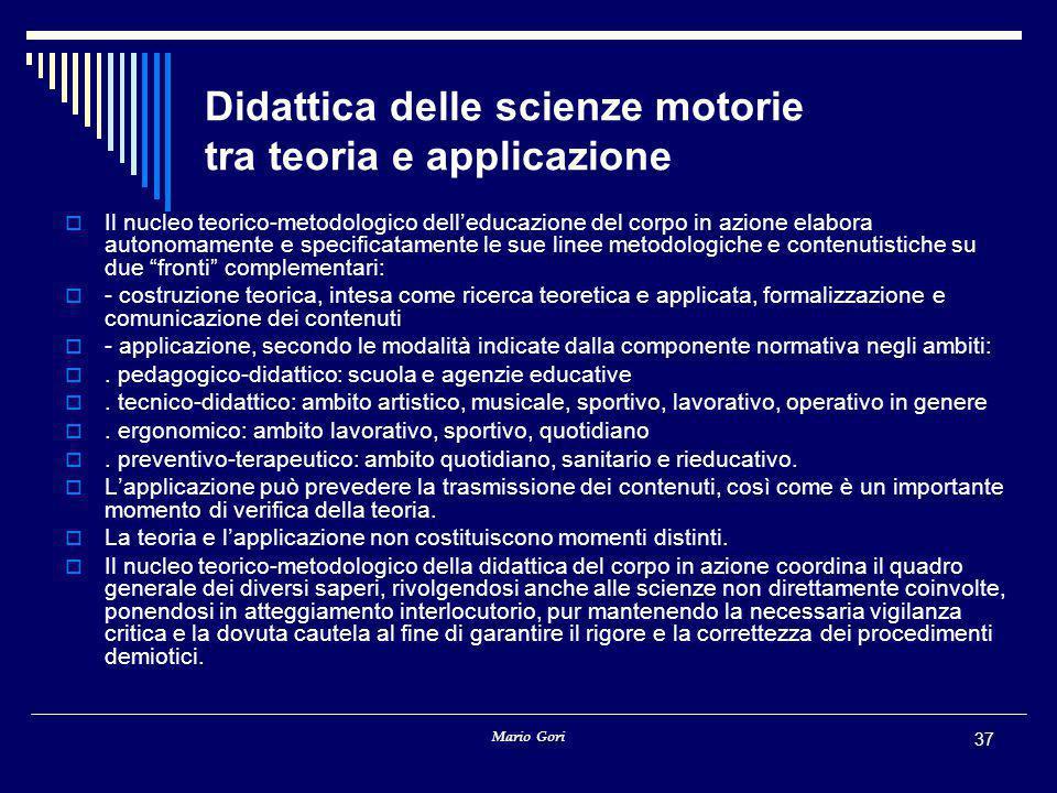 Didattica delle scienze motorie tra teoria e applicazione