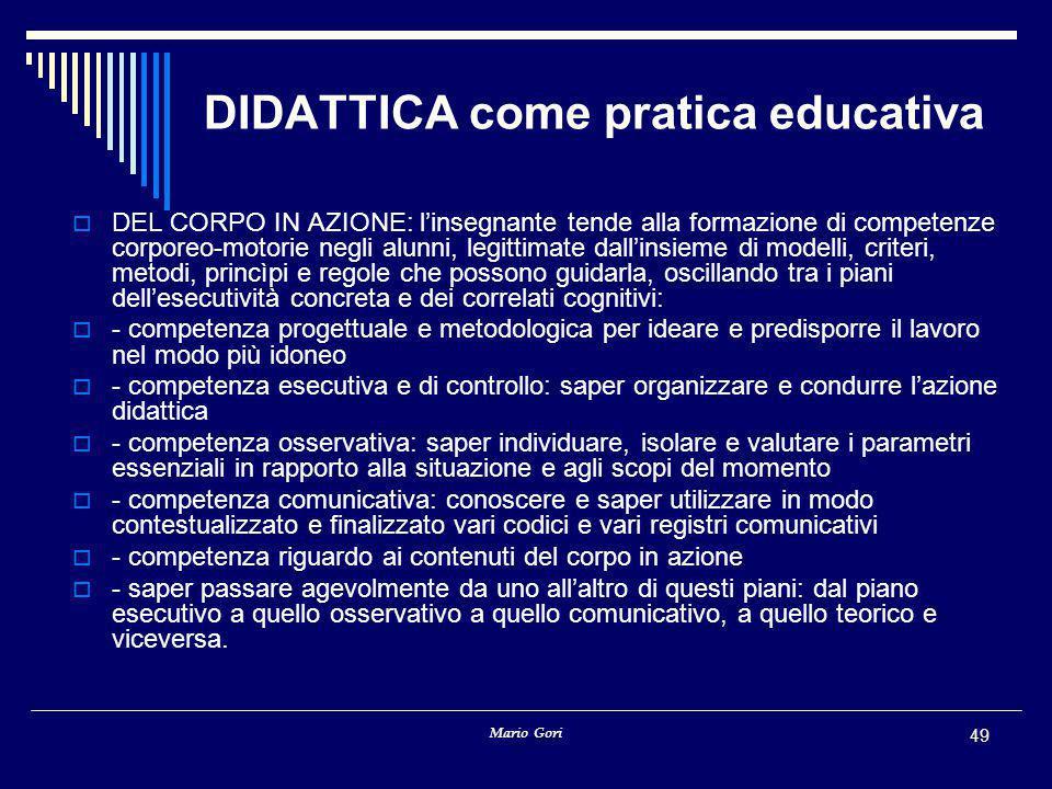 DIDATTICA come pratica educativa
