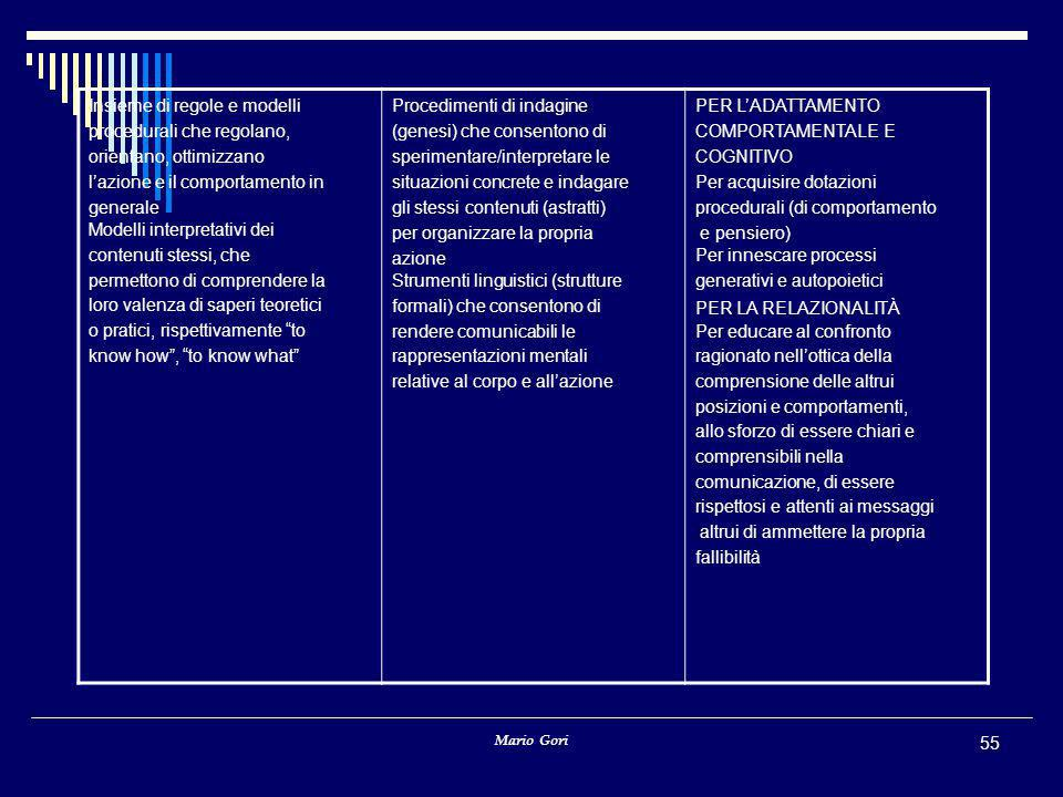 Insieme di regole e modelli procedurali che regolano,