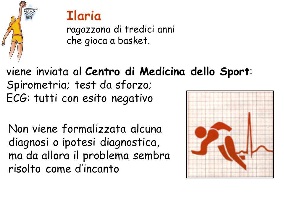 Ilaria viene inviata al Centro di Medicina dello Sport: