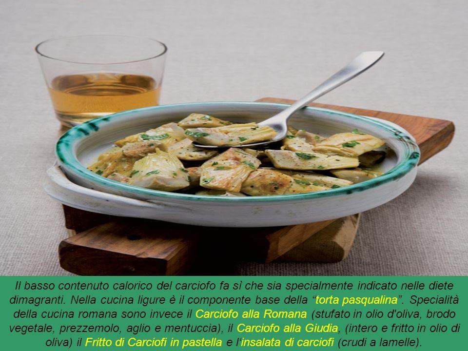 Il basso contenuto calorico del carciofo fa sì che sia specialmente indicato nelle diete dimagranti.