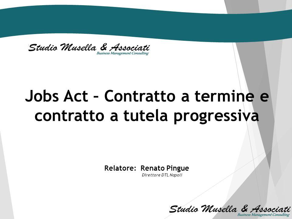 Jobs Act – Contratto a termine e contratto a tutela progressiva