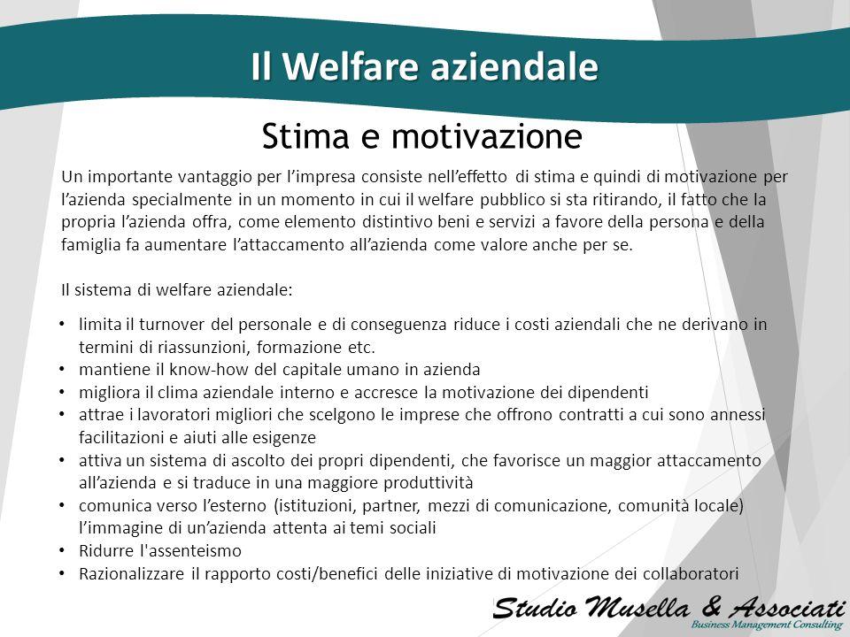 Il Welfare aziendale Stima e motivazione