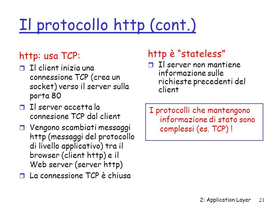 Il protocollo http (cont.)