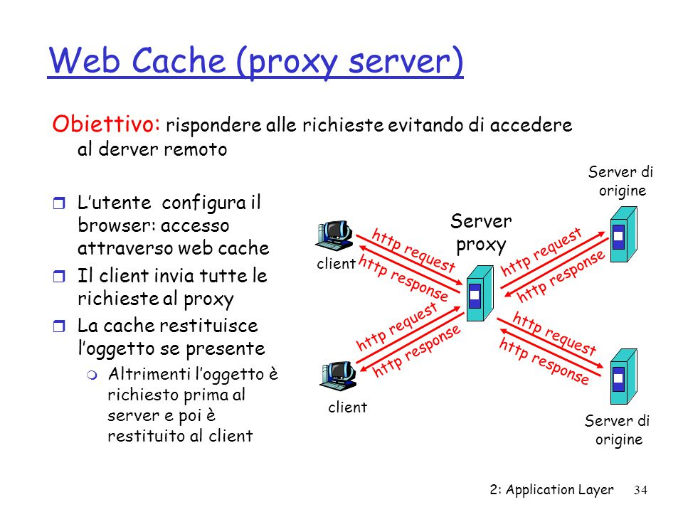 Web Cache (proxy server)