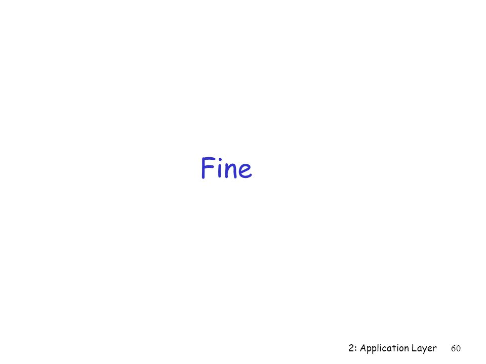 Fine 2: Application Layer