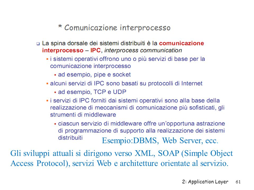 Esempio:DBMS, Web Server, ecc.