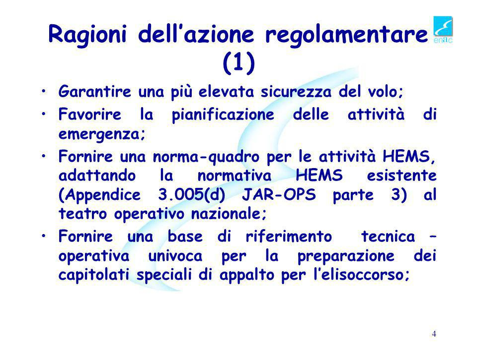 Ragioni dell'azione regolamentare (1)