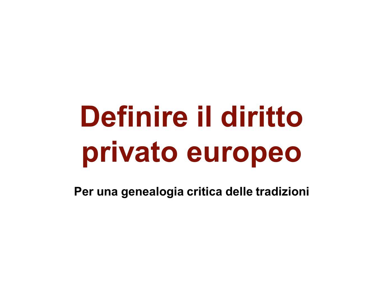 Definire il diritto privato europeo