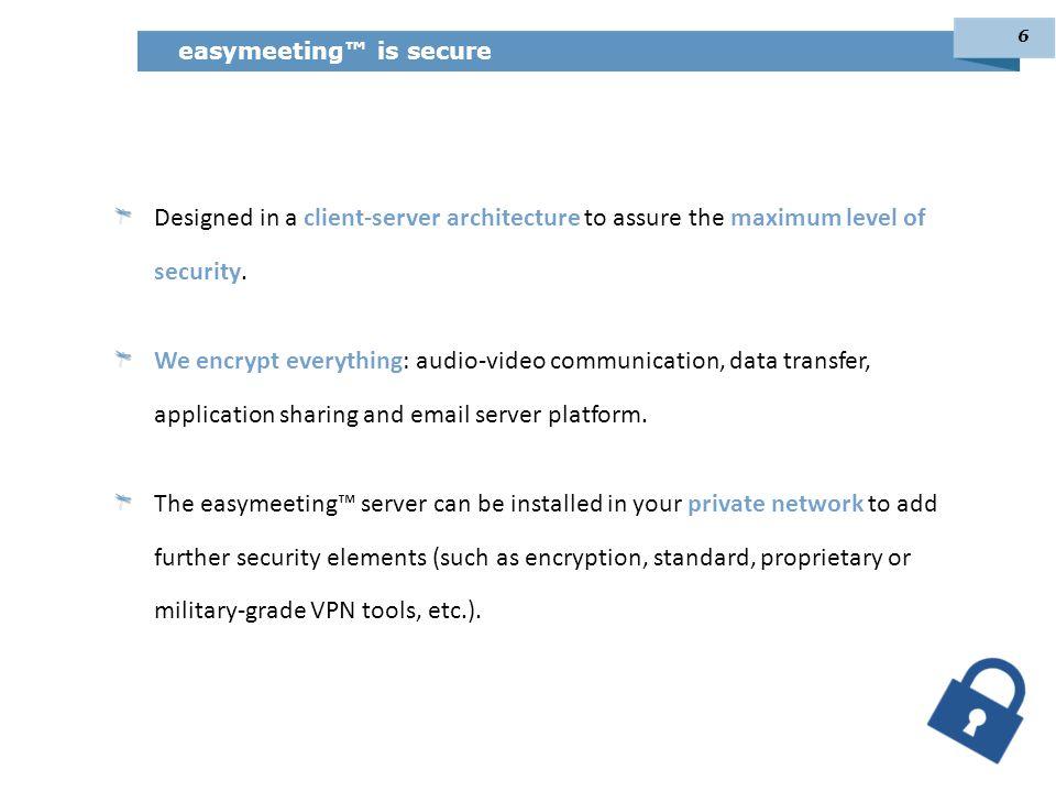 easymeeting™ is secure