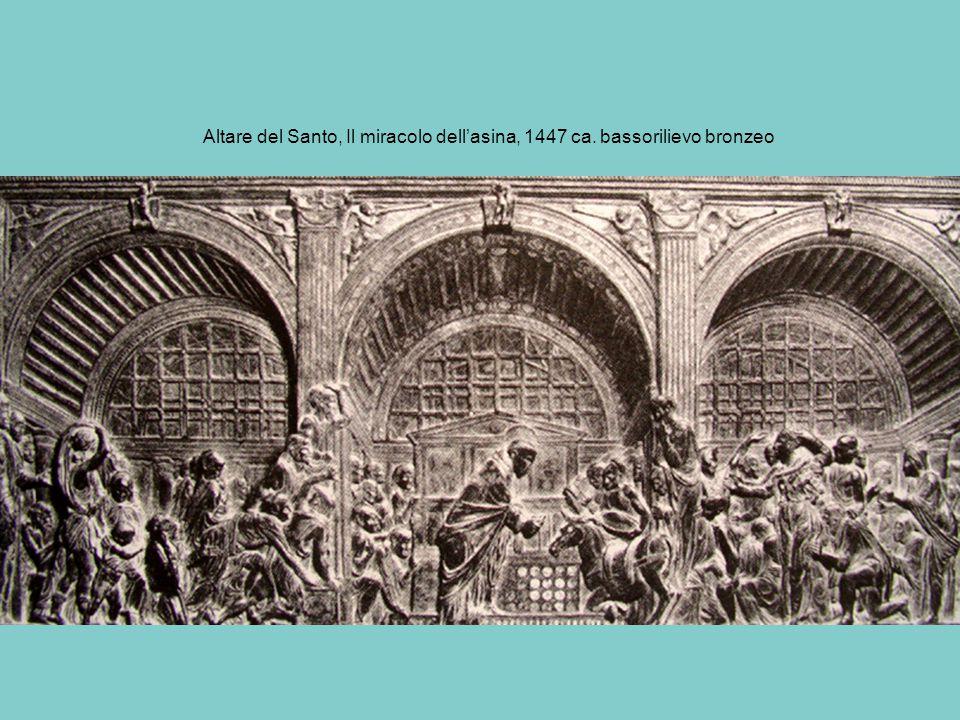 Altare del Santo, Il miracolo dell'asina, 1447 ca. bassorilievo bronzeo