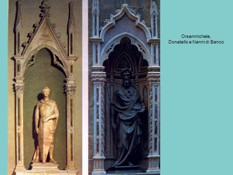 Orsanmichele, Donatello e Nanni di Banco