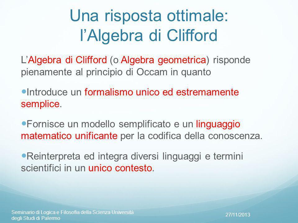 Una risposta ottimale: l'Algebra di Clifford