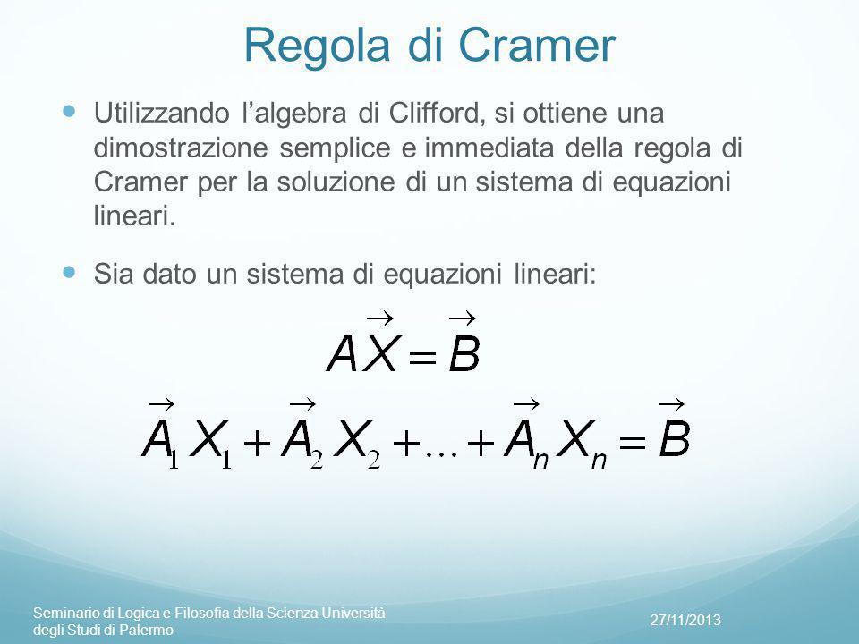 Regola di Cramer