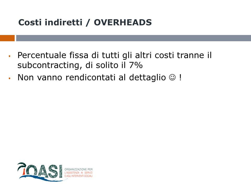 Costi indiretti / OVERHEADS