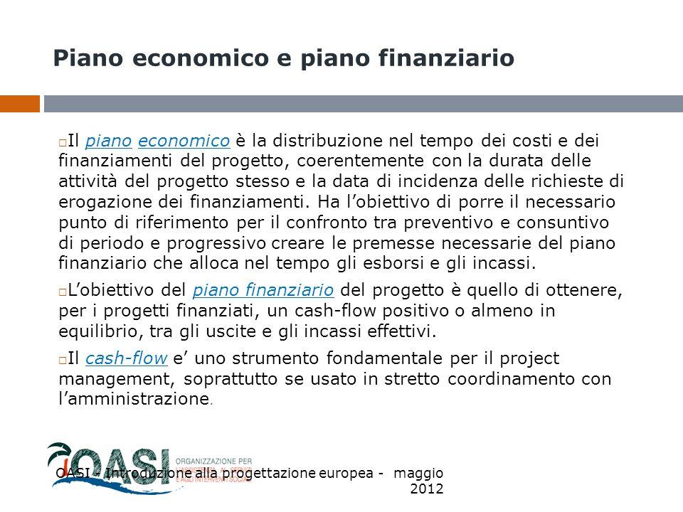 Piano economico e piano finanziario