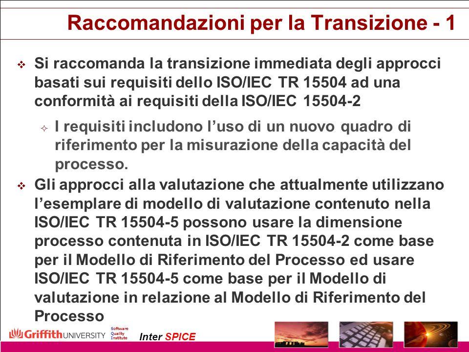Raccomandazioni per la Transizione - 1